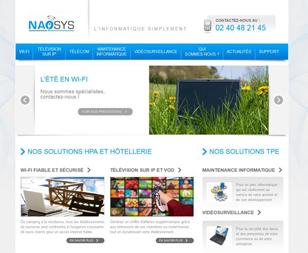 Nouveau site internet Naosys